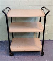Cosco Metal Rolling Cart, Top removes as Tray
