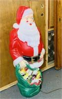 1969 Empire Lighted Santa Blow Mold, Christmas