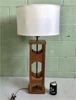 Walnut sculptural wood lamp