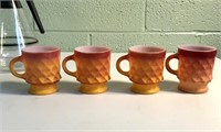 Coffee Caraf, 4 Fire King Anchor Hockings mugs