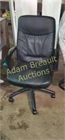Black 39 in swivel rolling office chair