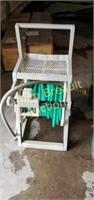 Suncast slide Trak hose reel and hose