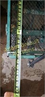 Metal wire mesh four- wheel garden cart, 20 x