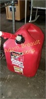 Midwest 5 gallon plastic gas can, full