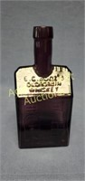 Vintage EC Booz's old cabin purple whiskey bottle