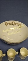 Hall Tom and Jerry 1800's 14 inch porcelain bowl