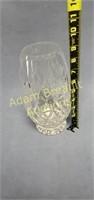 Tudor Crystal 9 in leaded glass flower vase