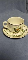 12 assorted porcelain tea cups and saucers