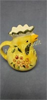Made in Italy 6.5 in porcelain chicken pitcher