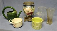 6 assorted Planters and vases
