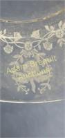 Vintage 14 inch flower etched platter
