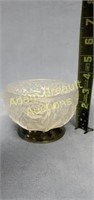 Vintage 4.5 inch satin glass compote