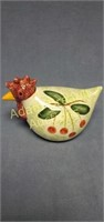 Hand-painted 8in porcelain chicken figurine