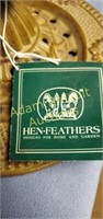 Hen-Feathers cast-iron decorative 10 inch compote