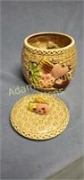 """Vintage 7 in """"cookie"""" porcelain cookie jar, made"""