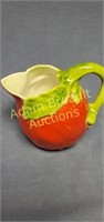6 in strawberry porcelain pitcher