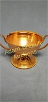 6 in Copper plated two-handled compote
