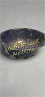 Vintage 10.75 in blue granite porcelain enameled