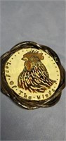 7 in Lord Of The Wings glazed Pottery trivet