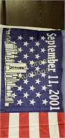 Commemorative 9-11 American flag, 33x59