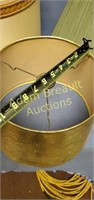 5 assorted large lamp shades