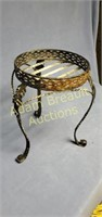 Decorative metal Leaf 15 in X 10in plant stand