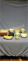 10 assorted pottery and Porcelain planters