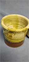 3 assorted glazed Pottery planters