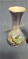 3 assorted decorative porcelain/glass vases