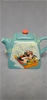 Disney Mickey, Minnie and Pluto porcelain teapot
