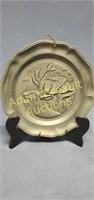 8.5 in decorative metal elk Collector Plate