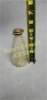 Vintage glass dispensing 5 inch bottle