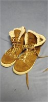 Airwalk fur-lined suede leather boots, size 9