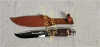 Globemaster No. 61470B hunting knife w/ leather