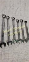 6 Craftsman open-end/box end combo wrenches
