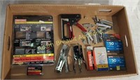 3 staple guns and largest assortment of staples