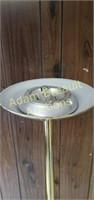 71 in polish brass 300w floor lamp