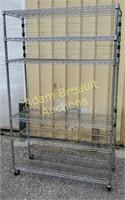 6 tier wire rack rolling, adjustable storage