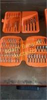 Large assortment Black & Decker driver/drill bits