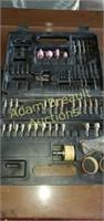 Assorted rotary tool bits, driver bits, sockets