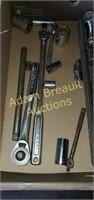 Assorted ratchets, socket, extensions, breaker