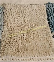 3 Chenille plush bath mats, 18 x 30