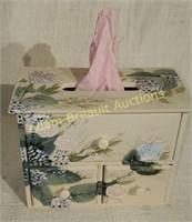 Decorative wood Kleenex box and Storage cama 6.25