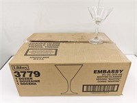 Dozen Libbey Embassy Martini Glasses