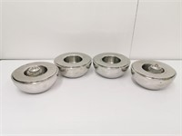 (4) S/S Table Candle Holders