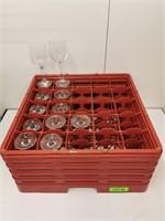 Mixed Wine Glasses & Dishwasher Rack