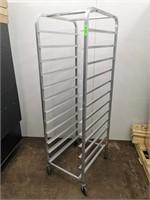 Full Size 12 Pan Aluminium Sheet/Dough Bin Rack