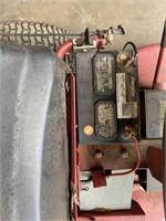 vintage snapper riding mower has a 12 hp Briggs &