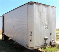 Brown Storage Box Van, single-axle, 8' x 26', (view 1)
