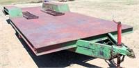 """Flatbed, 2-axle, bumper-pull, 7' 3"""" x 20', diamond deck steel plate floor, ramps, 53"""" between fenders (view 1) NO TITLE"""
